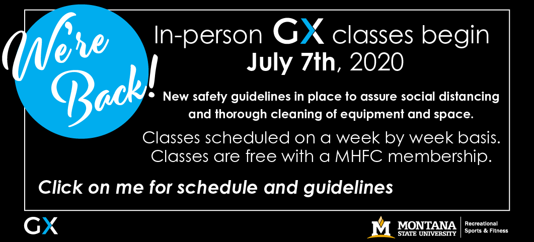 New safety guidelines in place to assure social distancing and thorough cleaning of equipment and space. Classes scheduled on a week by week basis.  Classes are free with a MHFC membership.  Click on the banner for schedule and guidelines.