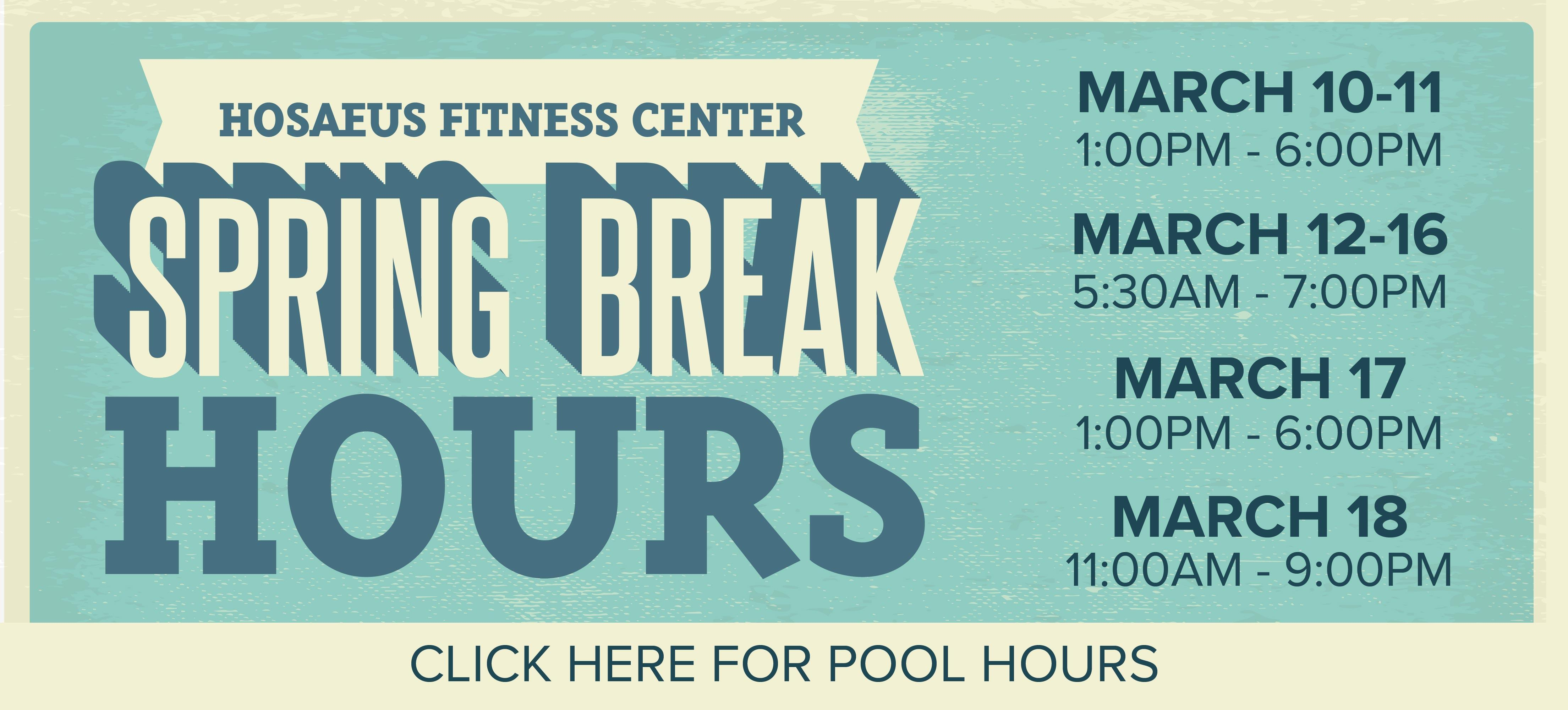 Please call 406-994-5000 for the facility and pool schedule. There will be no GX classes for the week.