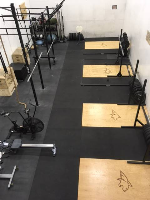Functional training room recreational sports and fitness
