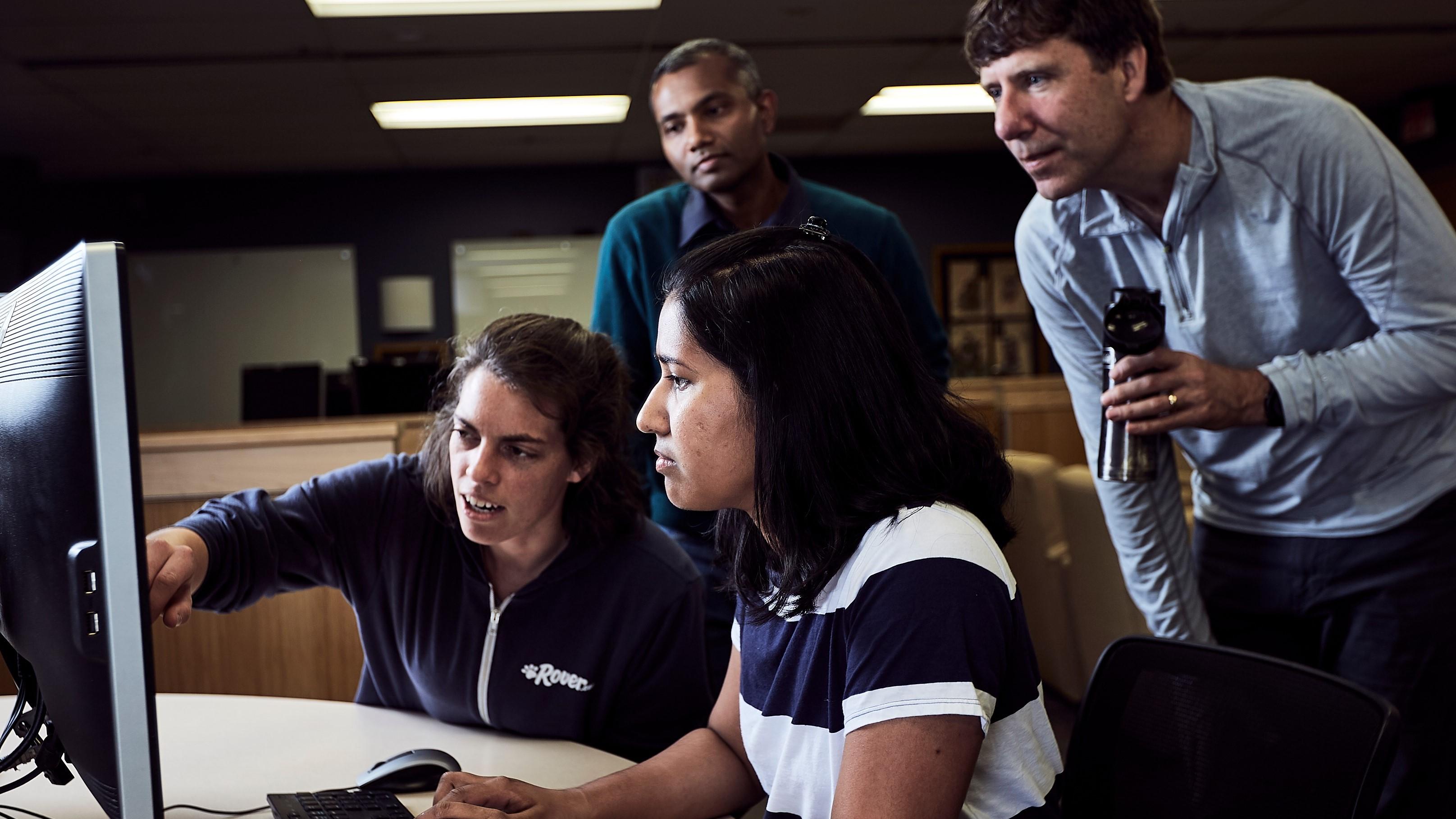 Students peer mentoring.