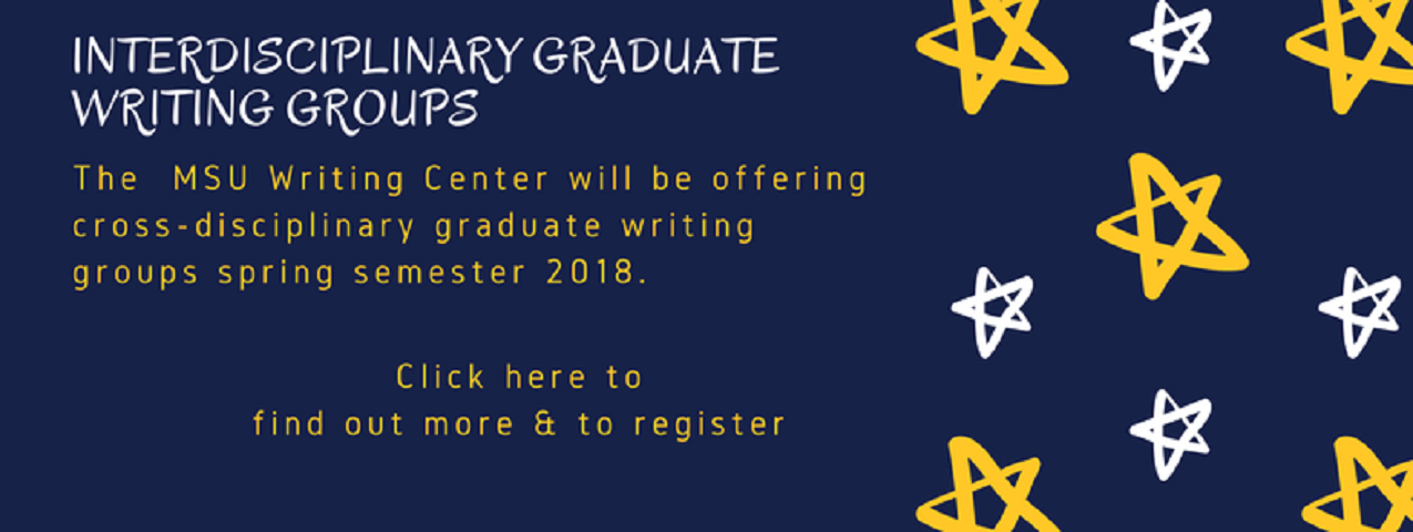 Spring 2018 Graduate Student Writing Groups