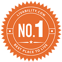 Livability.com No. 1 place to live medallion
