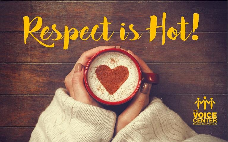 Respect is Hot -Voice Center Banner