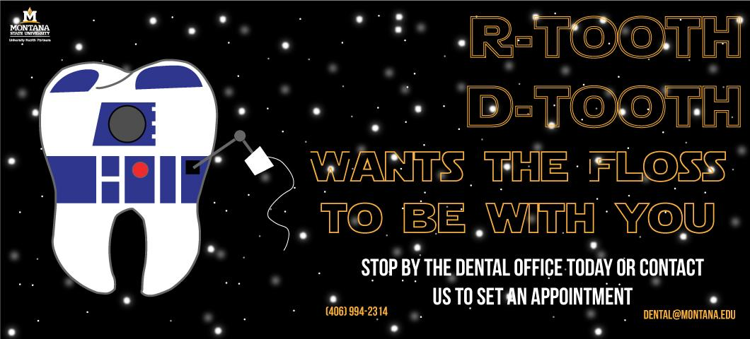 R tooth d Tooth wants the floss to be with you