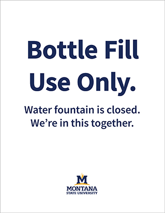 msu branded letter-size bottle fill use only sign