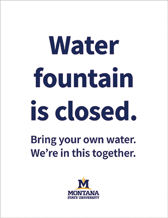 msu branded letter-size closed water fountain sign