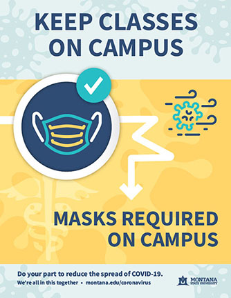 Keep Classes on Campus COVID-19 Precautions Masks Required on Campus Flyer