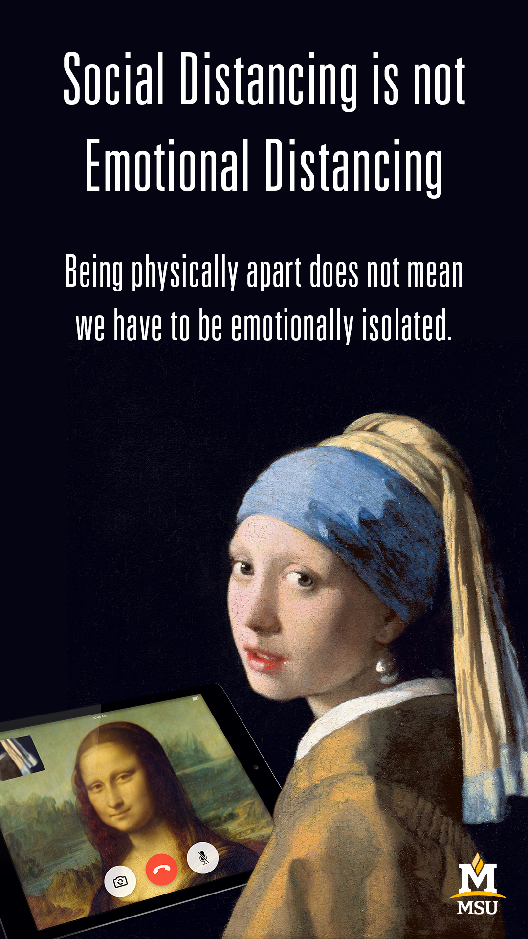 Being physically apart does not mean we have to be emotionally isolated