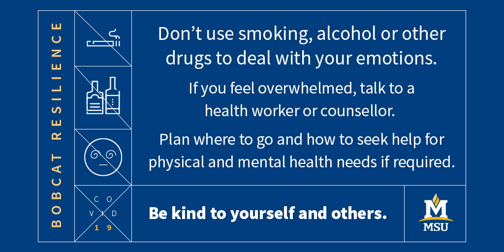 Have a plan, where to go and how to seek help for physical and mental health needs if required.