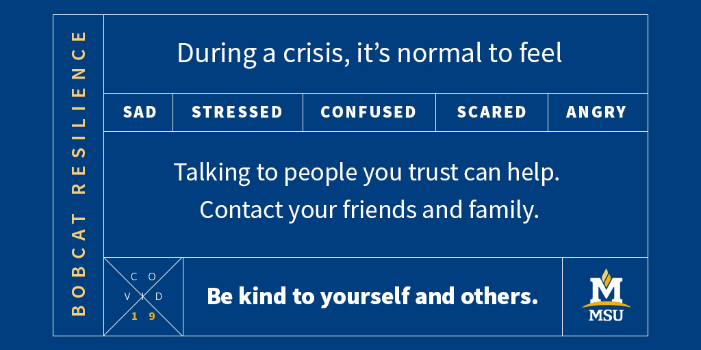 Talking to people you trust can help. Contact your friends and family.