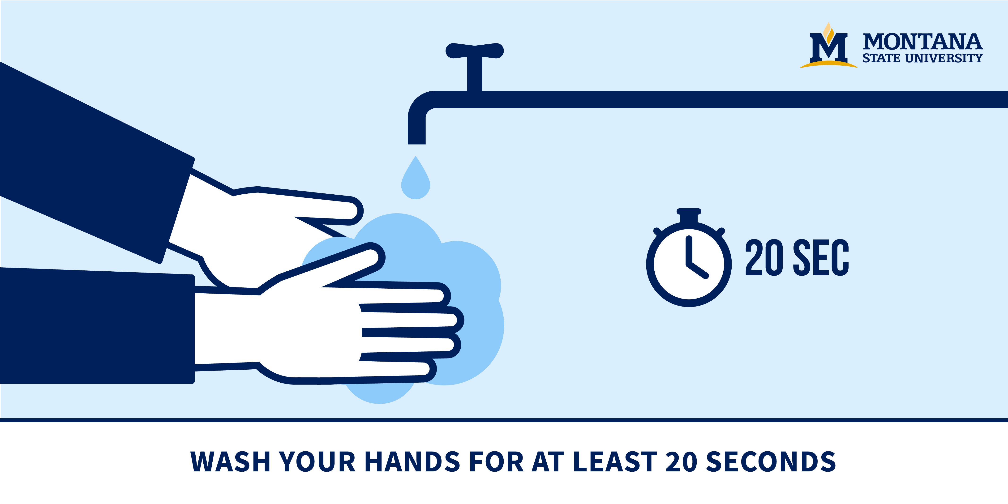 Wash Your Hands For A Minimum Of 20 Seconds