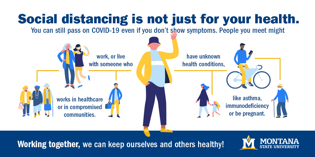 You can still pass on COVID-19 even if you do not show symptoms. People you meet might.
