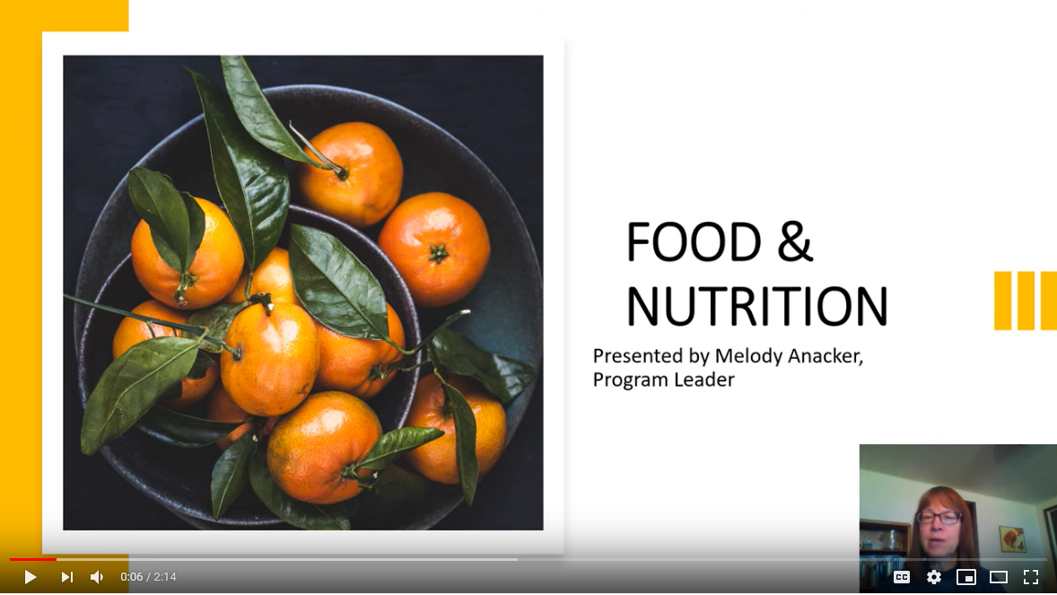 Food and nutrition dietetics video