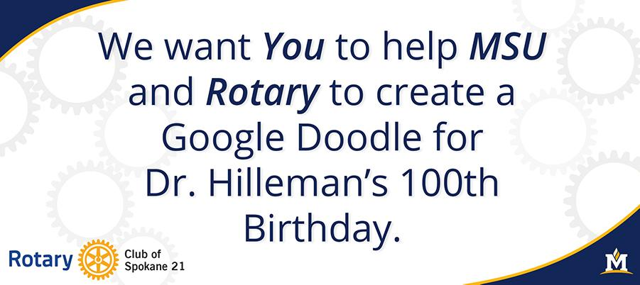 Celebrate with us by requesting that Google create a Maurice Hilleman homepage on August 30th.