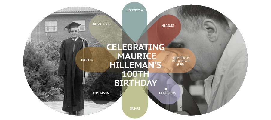 Help us celebrate Dr. Hilleman's 100th Birthday!