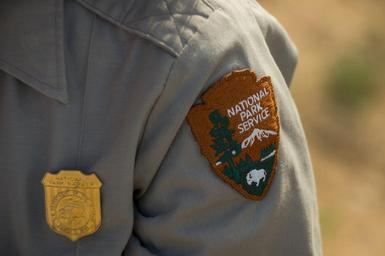 National Park Service shoulder patch on a ranger