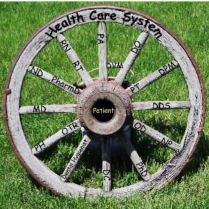 Wooden Health Care System wheel