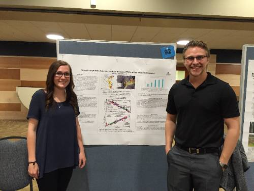 Student poster presentation at MSU