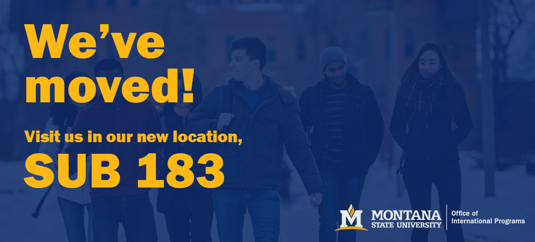 The Office of International Programs has moved locations to SUB 183.