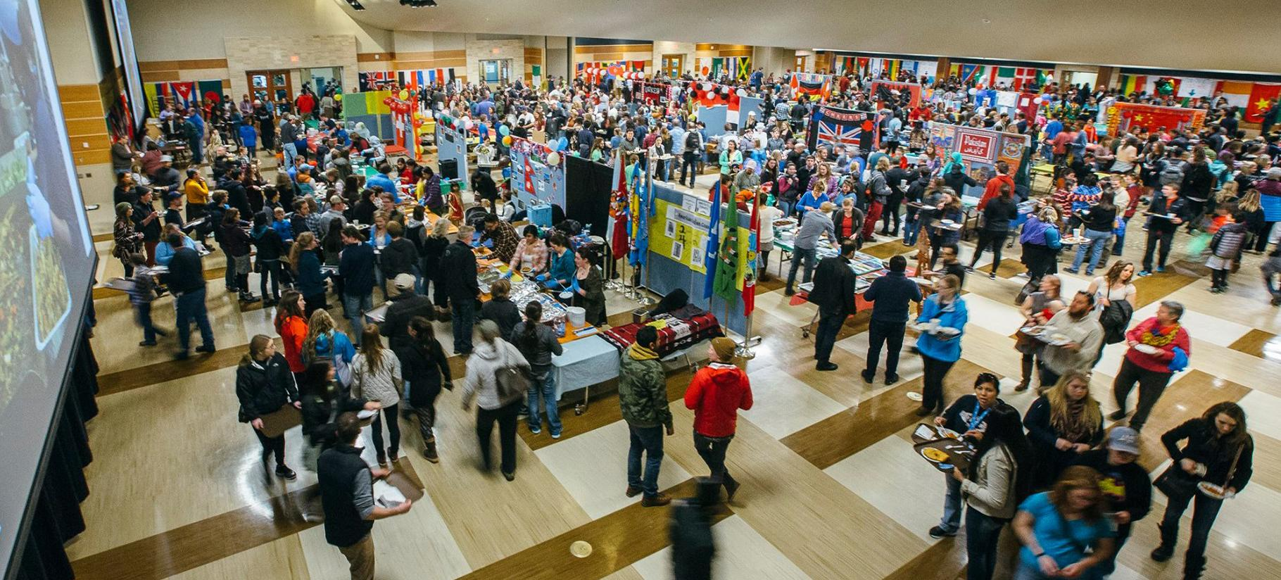 Ariel view of the 34th Annual International Food Bazaar