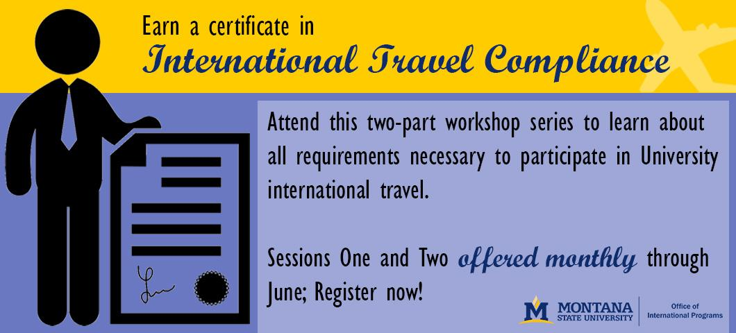 Register now for the two-part International Travel Compliance workshop series