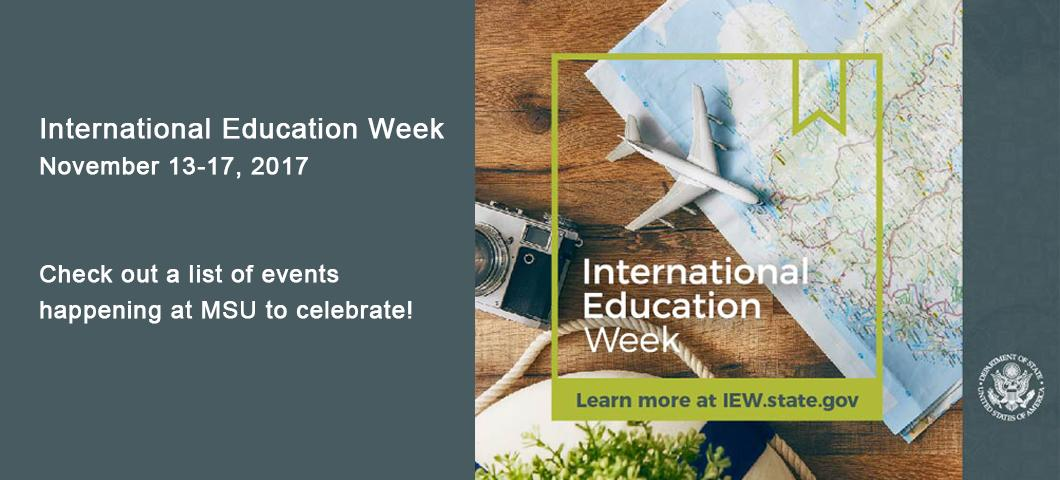 See what's happening for International Education Week at MSU