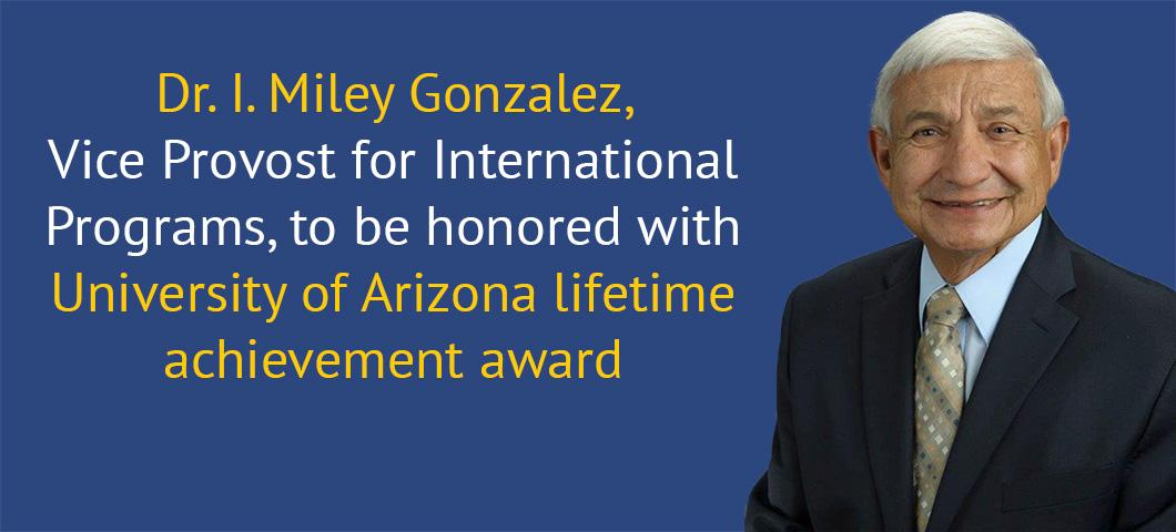 Dr. Gonzalez to be honored with lifetime achievement aware
