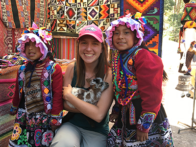 Student studying abroad in Peru