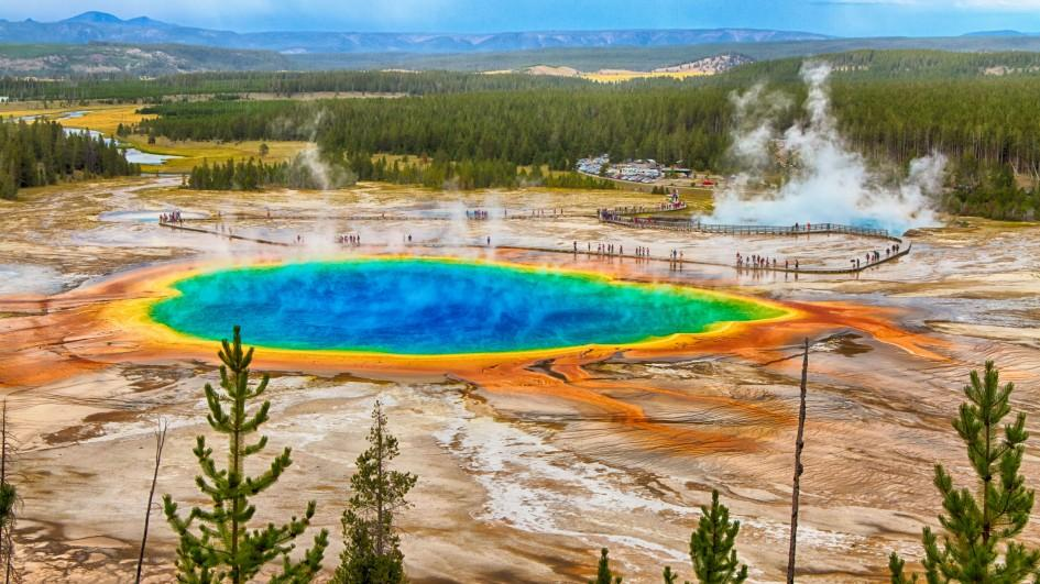 The colorful thermal activity of Yellowstone National Park