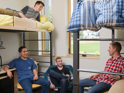 Males in Yellowstone Dorm Room