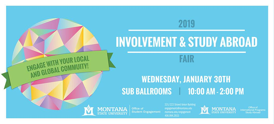 Join us for the 2019 Involvement and Study Abroad Fair!