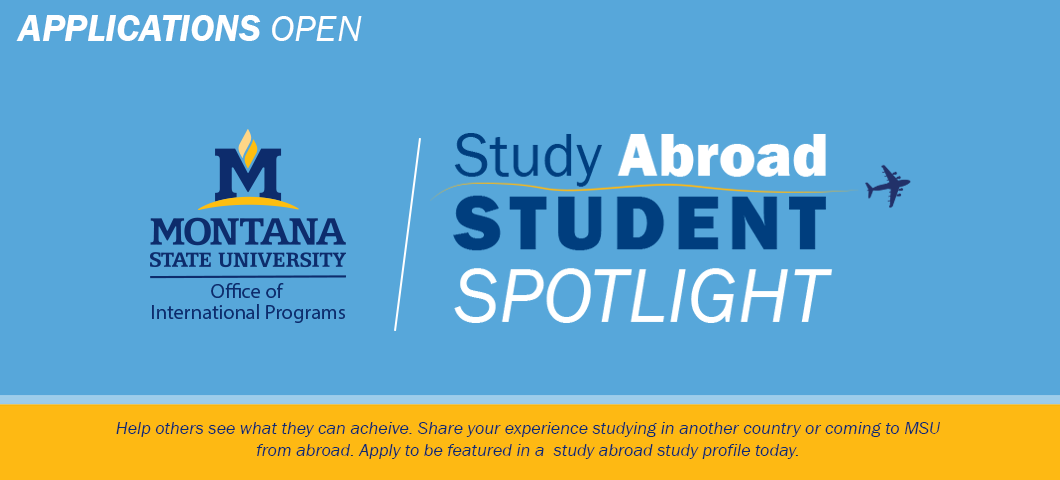 Help others see what they can achieve. Apply today to be featured as a study abroad spotlight student.