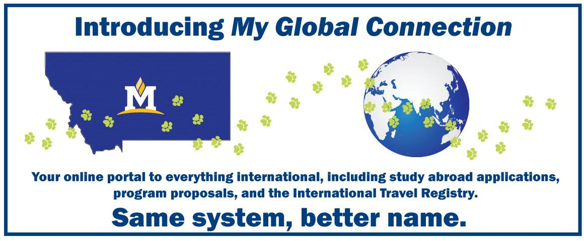 Your online portal for everything international, including study abroad applications, program proposals, and the International Travel Registry