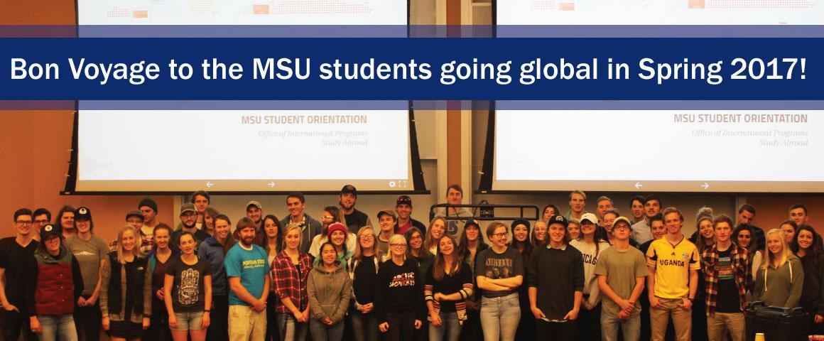 Group photo of MSU students studying abroad in Spring 2017.