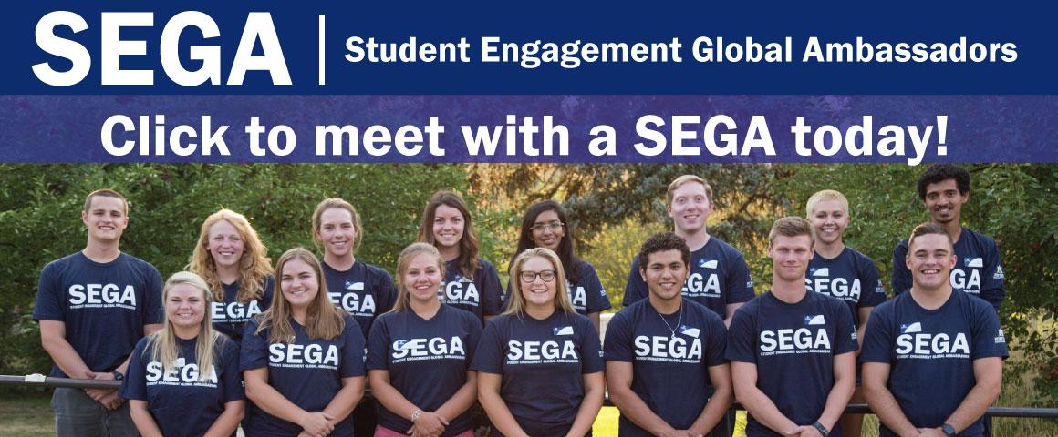 SEGAs are current MSU students that are involved in activities on campus, in the local community, and in the global community.  SEGAs will share with you their experiences, the importance of being an involved student, and most importantly will help you develop an individual engagement portfolio that aligns with your personal and professional goals!