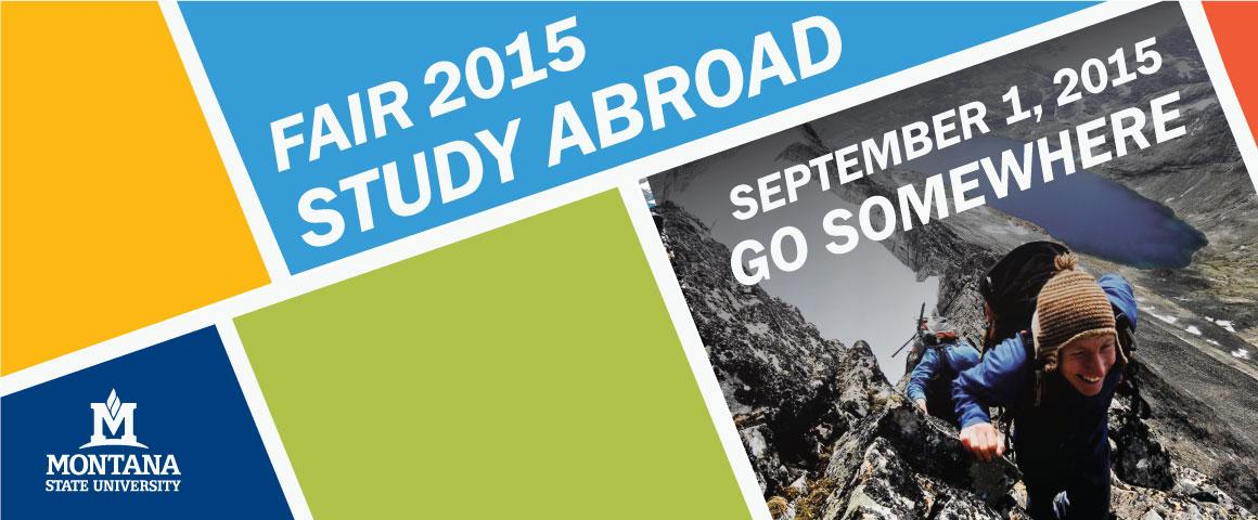 Study Abroad Fair 2015 - September 1, 2015