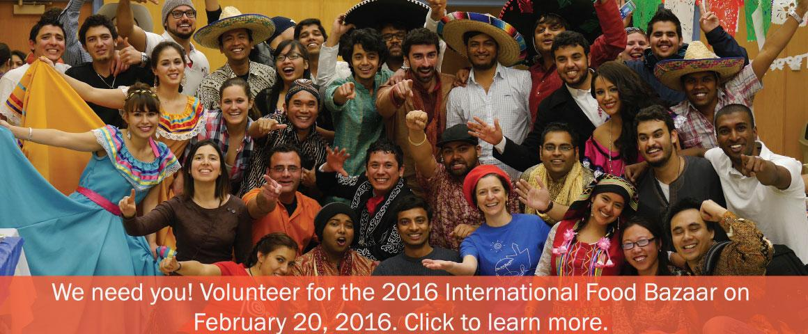 Volunteers needed for the 33rd International Food Bazaar at MSU. Click to learn more and to volunteer.