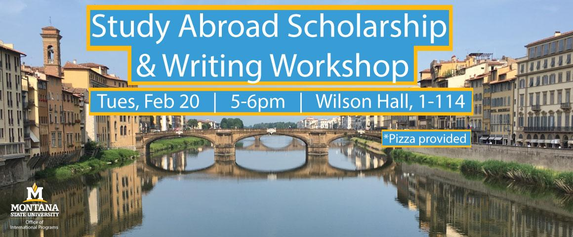 Come by for a short presentation on study abroad scholarship opportunities and application writing strategies. Following the presentations there will be a 45 min scholarship application writing session where Study Abroad Advisors and Writing Center Tutors will be available to answer questions and offer guidance. Pizza will be provided.