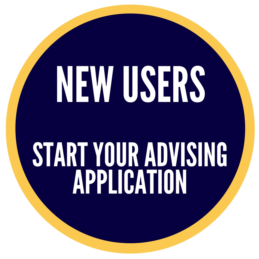 New Users Start your Advising Application