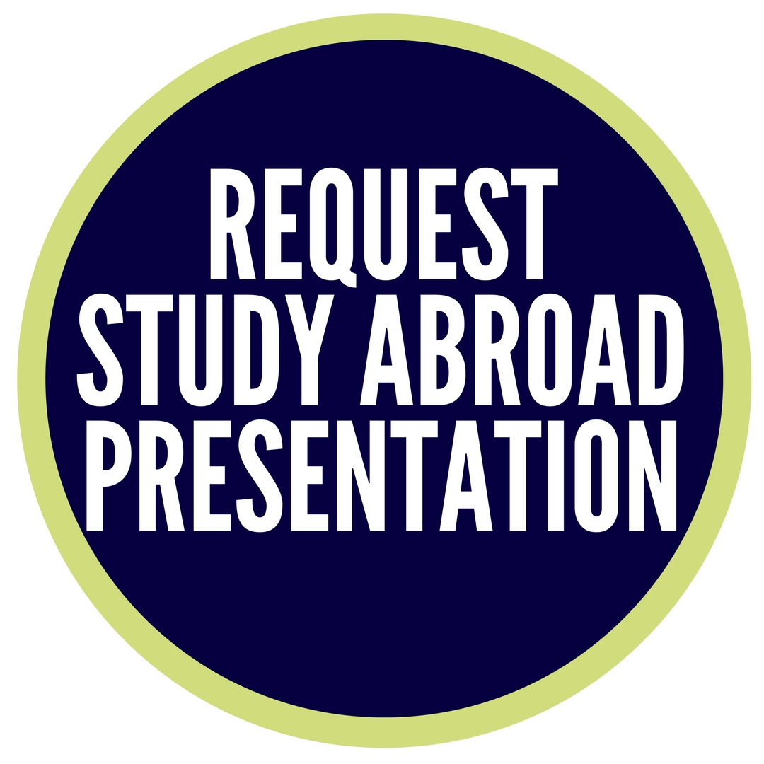 request a study abroad presentation