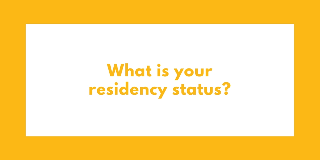 What is your residency status?