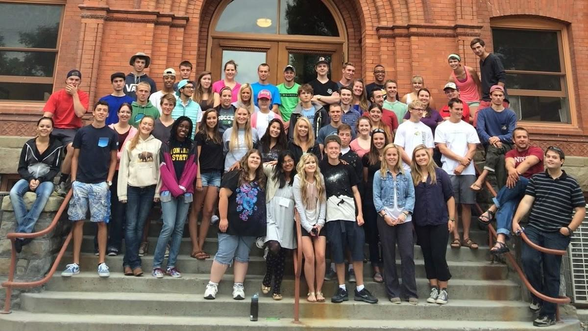 Emerging Leaders in front of Montana Hall