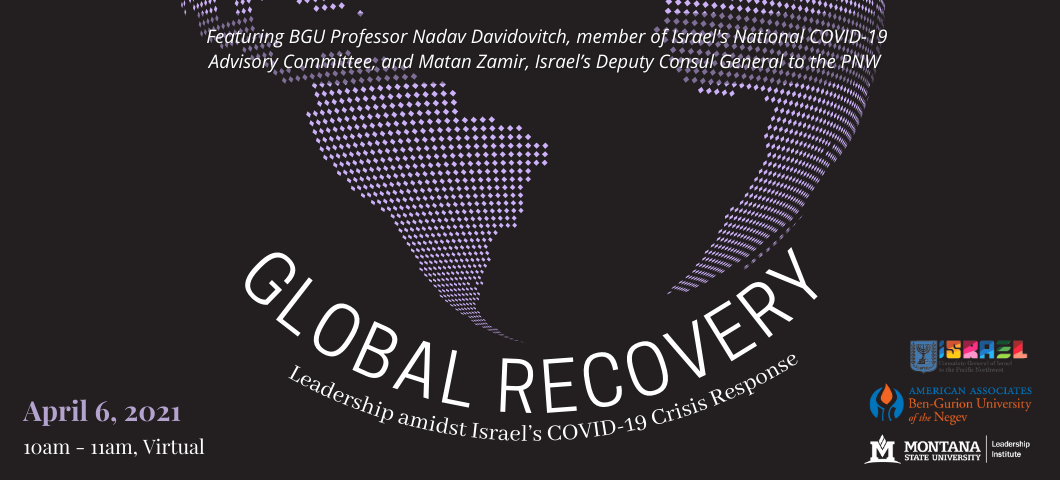 A world health conversation with Professor Nadav Davidovitch, a member of Israel's National COVID-19 Advisory Committee, and Matan Zamir, Israel's Deputy Consul General to the PNW. This event will focus on the lessons and leadership involved within what is considered one of the leading vaccine campaigns worldwide, as well as, exploring the importance of global collaboration.