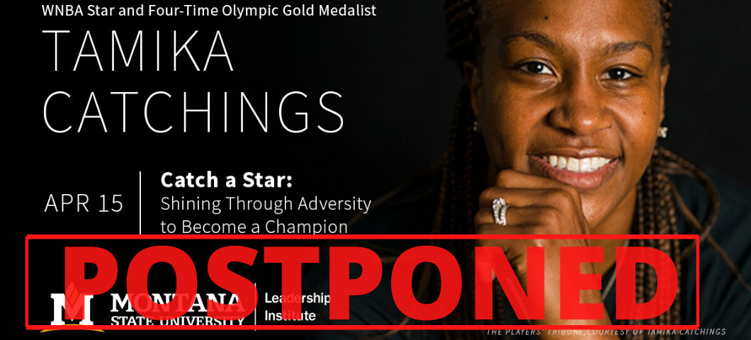 ATTENTION Tamika Catchings Ticket Holders: Due to concerns of COVID-19 and recommended precautions, we will be POSTPONING our 4/15/20 lecture with WNBA Star Tamika Catchings.