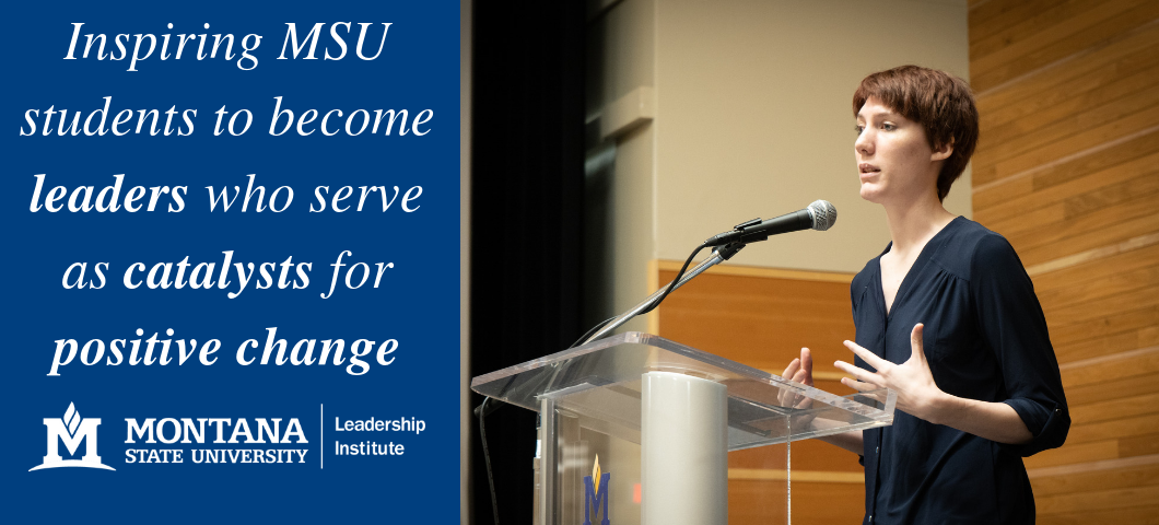 Inspiring MSU Students to become leaders who serve as catalysts for positive change. Liz Vinson, Student Associate