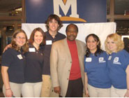 Paul Rusesabagina and MSU Leadership staff