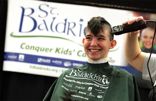 Shave your head & support childhood cancer research!