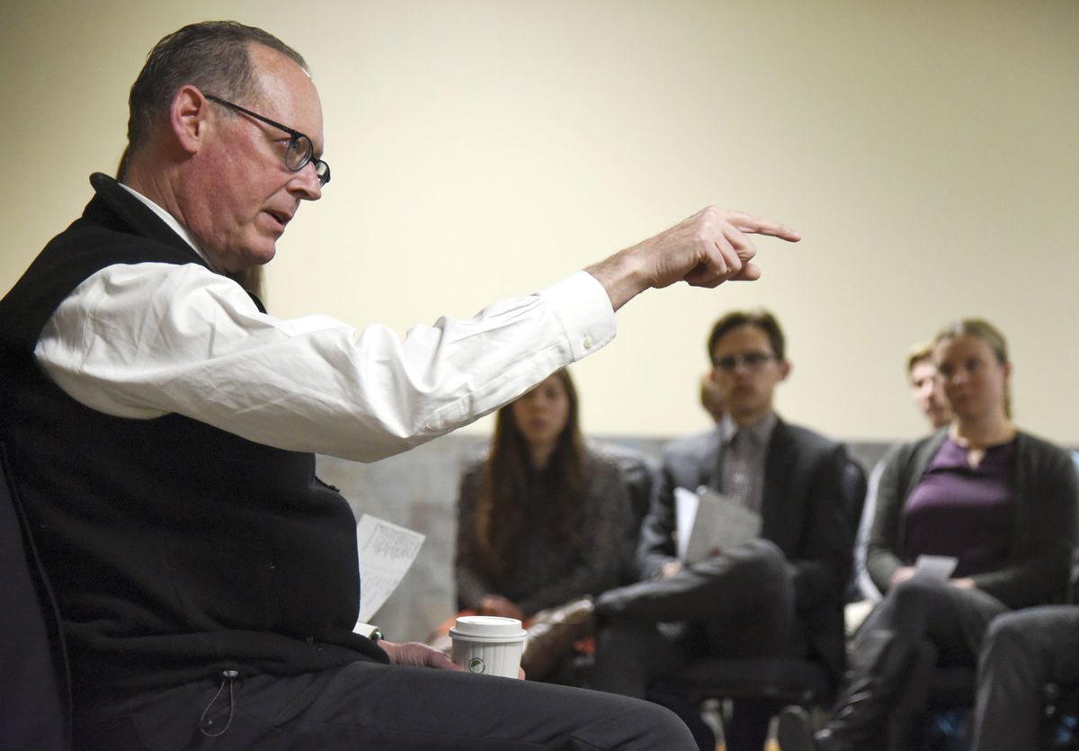 Dr. Paul Farmer, co-founder of the international health organization Partners in Health, speaks at Montana State University on January 31, 2018