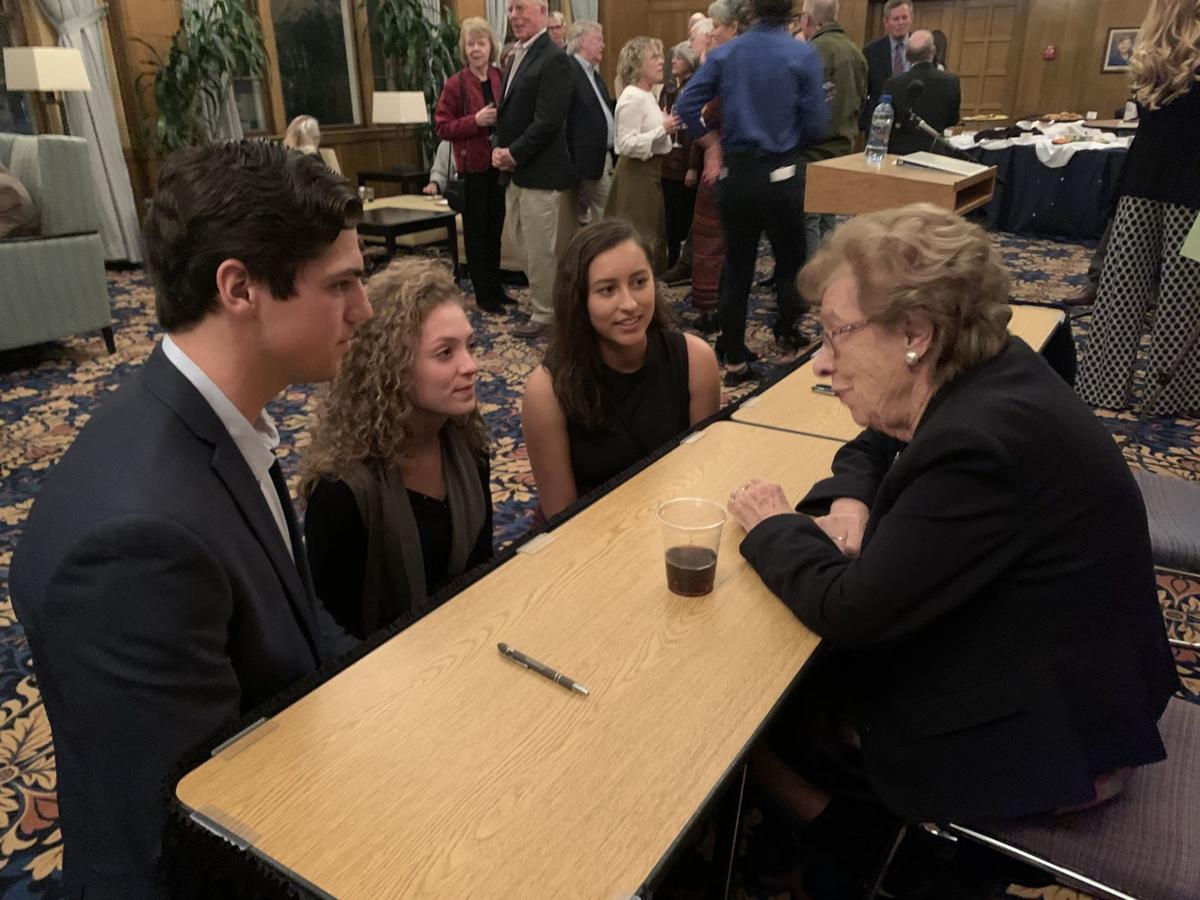 Eva Schloss Reception with Students