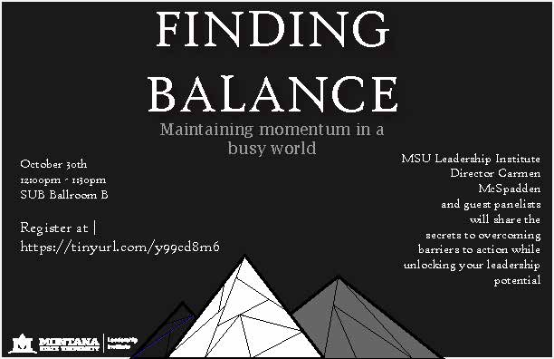 Finding Balance Workshop 2017 Graphic